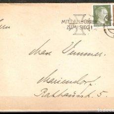 Sellos: ALEMANIA IMPERIO.1942. . MATASELLOS ESPECIAL.CON EL LÍDER A LA VICTORIA.CONTIENE POSTAL.. Lote 200170358