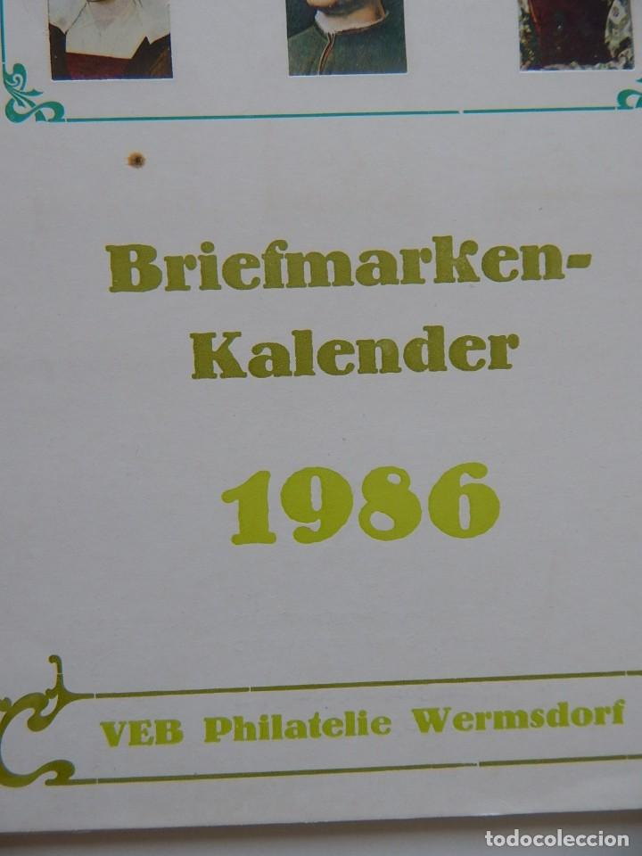 Sellos: Calendario filatélico Alemania 1986 / Briefmarken Kalender 1986 - VEB Philatelie Wermsdorf - Foto 2 - 202078157