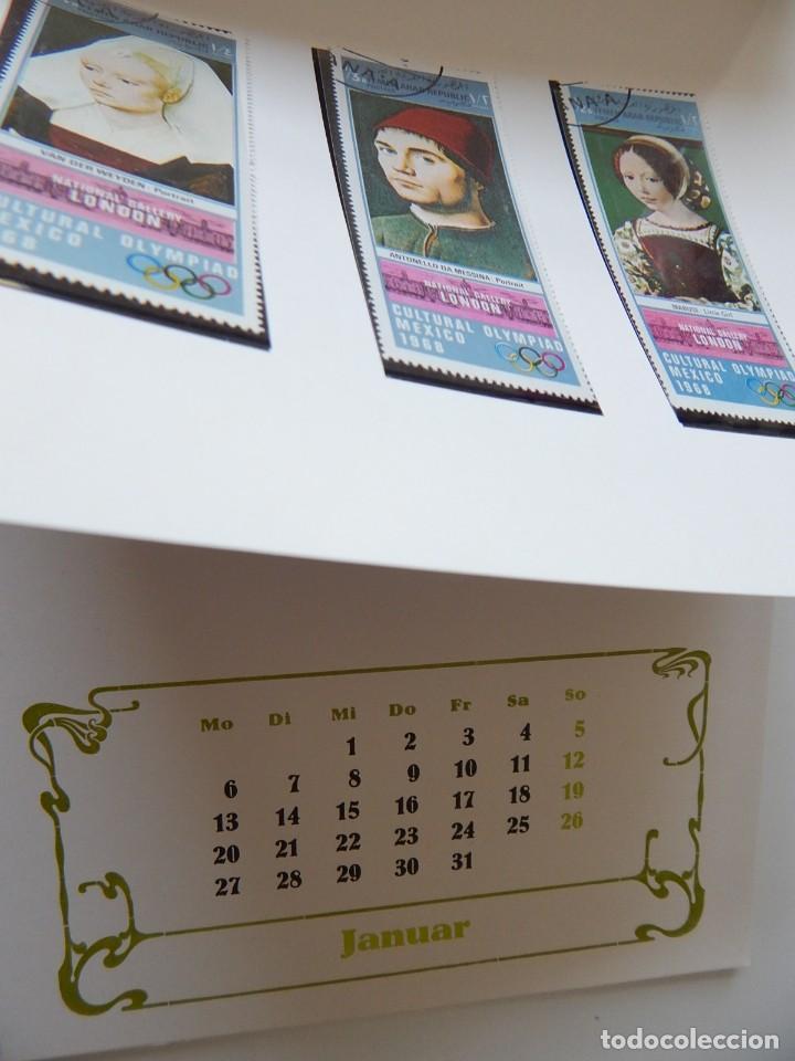 Sellos: Calendario filatélico Alemania 1986 / Briefmarken Kalender 1986 - VEB Philatelie Wermsdorf - Foto 5 - 202078157