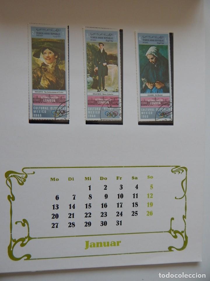 Sellos: Calendario filatélico Alemania 1986 / Briefmarken Kalender 1986 - VEB Philatelie Wermsdorf - Foto 6 - 202078157
