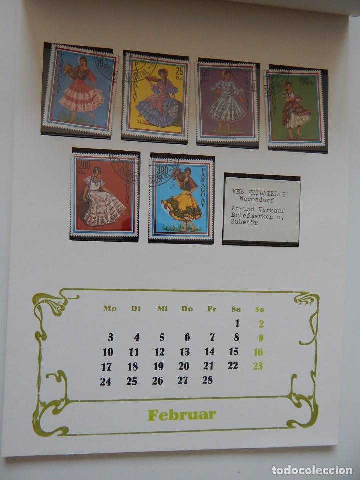 Sellos: Calendario filatélico Alemania 1986 / Briefmarken Kalender 1986 - VEB Philatelie Wermsdorf - Foto 7 - 202078157
