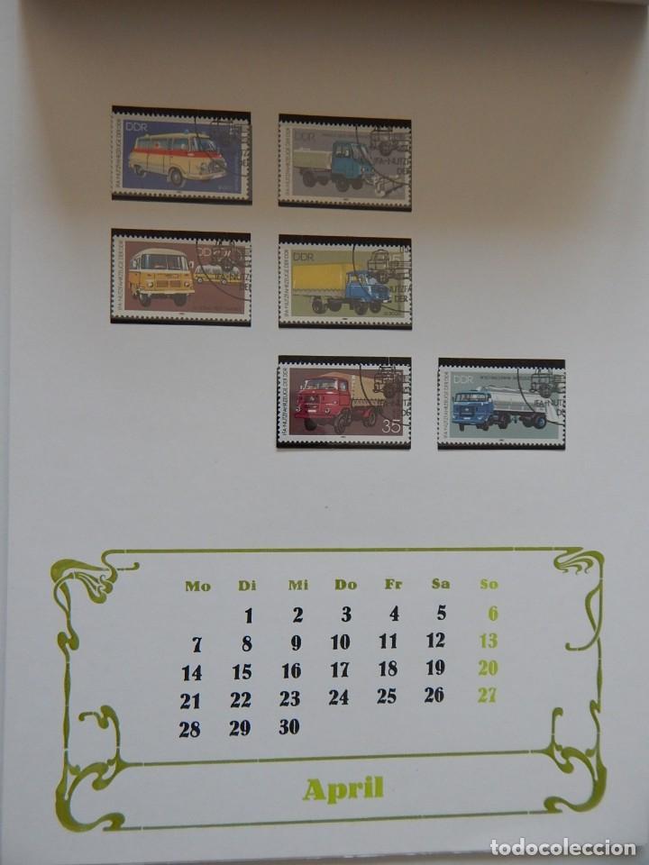 Sellos: Calendario filatélico Alemania 1986 / Briefmarken Kalender 1986 - VEB Philatelie Wermsdorf - Foto 9 - 202078157