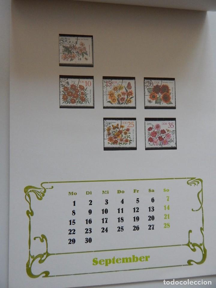 Sellos: Calendario filatélico Alemania 1986 / Briefmarken Kalender 1986 - VEB Philatelie Wermsdorf - Foto 14 - 202078157