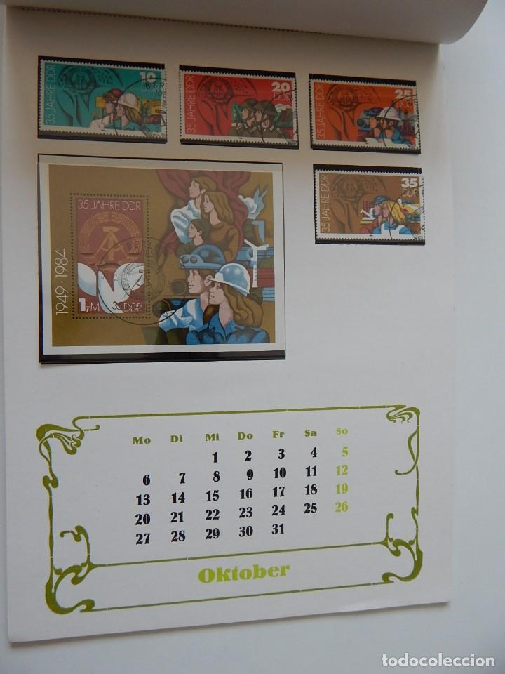 Sellos: Calendario filatélico Alemania 1986 / Briefmarken Kalender 1986 - VEB Philatelie Wermsdorf - Foto 15 - 202078157