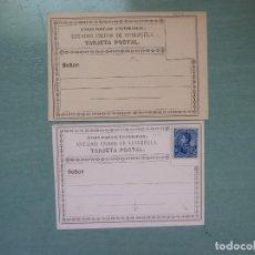 Sellos: DOS TARJETAS POSTAL DE VENEZUELA UNA FRANQUEO. Lote 202633381