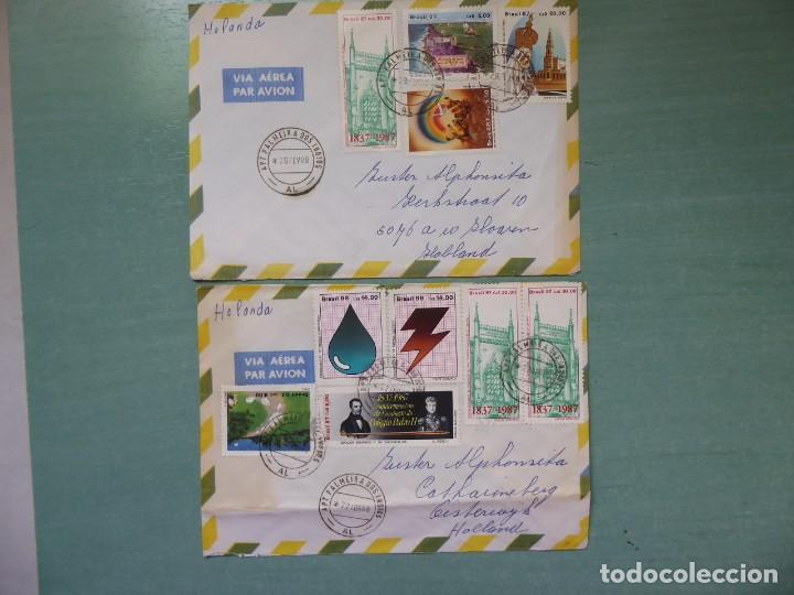CARTAS CIRCULADAS DE BRASIL A HOLANDA FRANQUEO VARIADO, (Sellos - Historia Postal - Sellos otros paises)