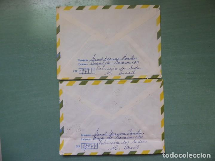 Sellos: cartas circuladas de brasil a holanda franqueo variado, - Foto 2 - 202633725