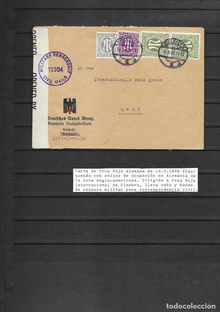 CRUZ ROJA FINAL SEGUNDA GUERRA MUNDIAL (Sellos - Historia Postal - Sellos otros paises)