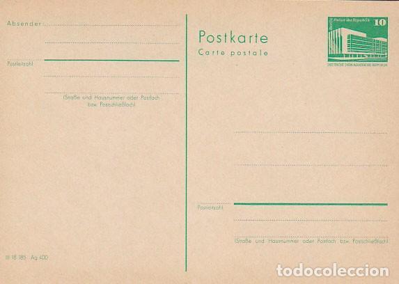 ALEMANIA ORIENTAL, ENTERO POSTAL CIRCULADO EL 14-12-1957, TALADRO DE ARCHIVO (Sellos - Historia Postal - Sellos otros paises)