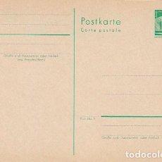 Sellos: ALEMANIA ORIENTAL, ENTERO POSTAL CIRCULADO EL 14-12-1957, TALADRO DE ARCHIVO. Lote 206247602