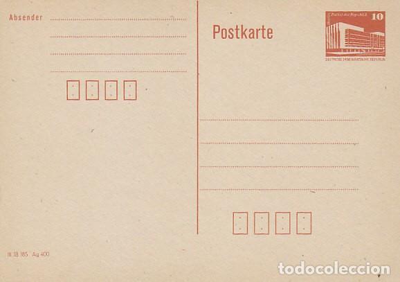 ALEMANIA ORIENTAL, ENTERO POSTAL SIN USAR CONSTRUCCIONES SOCIALISTAS: PALACIO LA REPUBLICA EN BERLIN (Sellos - Historia Postal - Sellos otros paises)