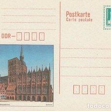 Sellos: ALEMANIA ORIENTAL, ENTERO POSTAL SIN USAR, LA ALEXANDERPLATZ DE BERLIN. Lote 206249462