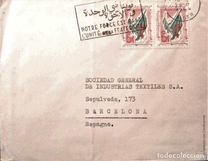 Sellos: Argelia. 7 Sobres Primer Día/Circulados. Ref: V134. Ver fotos del lote - Foto 3 - 206286608