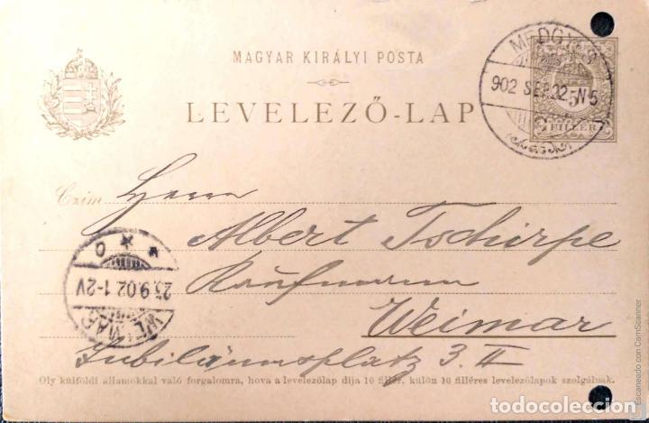 Sellos: Hungría. 5 Tarjetas Postales mataselladas/Sobres circulados. Ref: V136. Ver fotos del lote - Foto 2 - 206287606