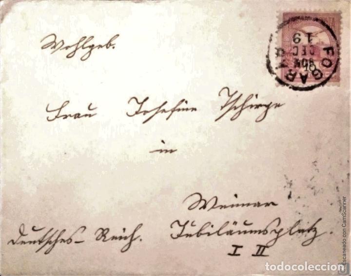 Sellos: Hungría. 5 Tarjetas Postales mataselladas/Sobres circulados. Ref: V136. Ver fotos del lote - Foto 3 - 206287606