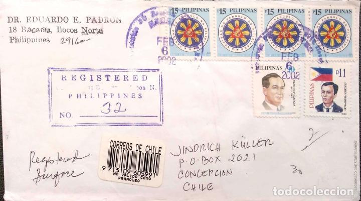 FILIPINAS. 6 SOBRES CIRCULADOS/MATASELLO PRIMER DÍA. REF: V137. VER FOTOS DEL LOTE (Sellos - Historia Postal - Sellos otros paises)