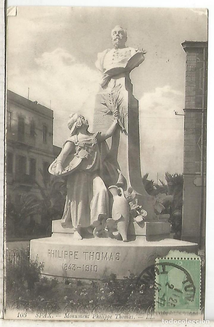 Sellos: TUNEZ TUNISIA 1913 TP A FRANCIA MARCA ACCIDENT DE SERVICE - Foto 2 - 206372987