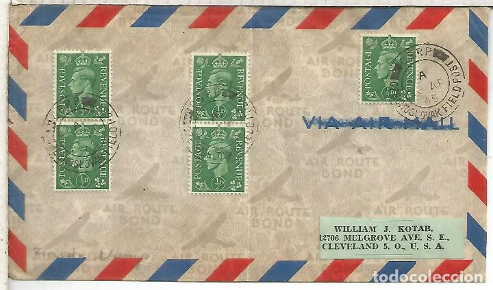 REINO UNIDO 1945 CORREO MILITAR CZECOSLOVAK FIELD POST OFFICE (Sellos - Historia Postal - Sellos otros paises)