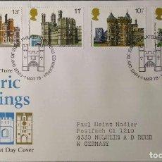 Francobolli: GRAN BRETAÑA. SPD 859/62 PALACIOS Y CASTILLOS HISTÓRICOS: TORRE DE LONDRES, HOLLYROOD HOUSE, CAERNAV. Lote 207360370