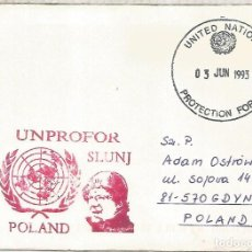 Sellos: NACIONES UNIDAS UNITED NATIONS PROTECTION FORCES POLAND UNPROFOR SLUNJ. Lote 209776858