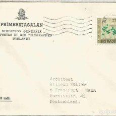 Sellos: ISLANDIA ISLAND ICELAND CC FLOWER FLOR VEGETAL NATURA. Lote 209830876
