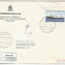 Sellos: ISLANDIA ISLAND ICELAND CC CERTIFICADA BARCO SHIP. Lote 209831170