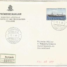 Sellos: ISLANDIA ISLAND ICELAND CC CERTIFICADA BARCO SHIP. Lote 209831285