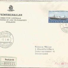 Sellos: ISLANDIA ISLAND ICELAND CC CERTIFICADA BARCO SHIP. Lote 209831361