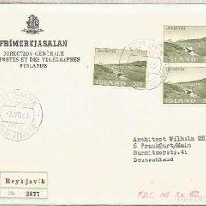 Sellos: ISLANDIA ISLAND ICELAND CC CERTIFICADA VILLA DE AKUREYRI. Lote 209831561