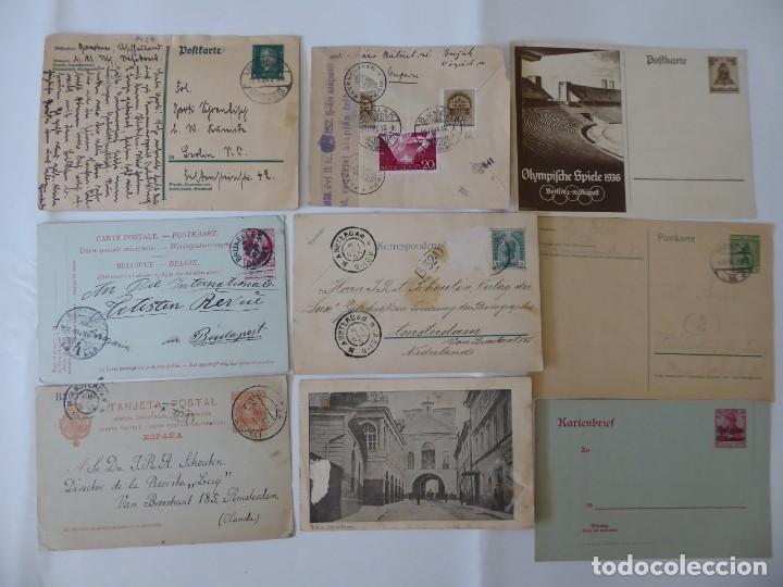 CONJUNTO DE 9 CARTA POSTAL DE ALEMANIA Y OTROS EUROPA CENSURA, (Sellos - Historia Postal - Sellos otros paises)