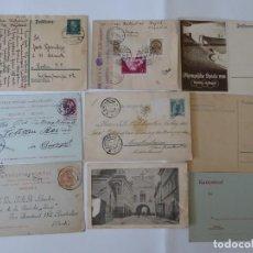 Sellos: CONJUNTO DE 9 CARTA POSTAL DE ALEMANIA Y OTROS EUROPA CENSURA,. Lote 209851057