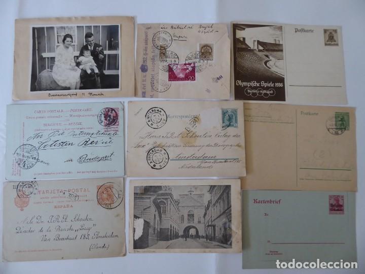 Sellos: conjunto de 9 carta postal de alemania y otros europa censura, - Foto 2 - 209851057