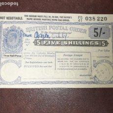 Sellos: REINO UNIDO. BRITISH POSTAL ORDER. 1949. Lote 209882390
