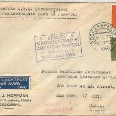 Sellos: HOLANDA 1950 PRIMER VUELO KLM AMSTERDAM NEW YORK. Lote 210359688