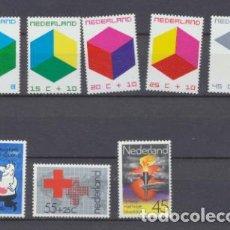 Sellos: HOLANDA 1970 Y 1978. YVERT 921-25 ** Y 1094-96 **. Lote 210959035