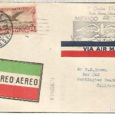 Francobolli: MEXICO CC PRIMER VUELO 1928 MEXICO NUEVO LAREDO. Lote 211817727
