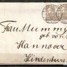 Sellos: ALEMANIA IMPERIO.1917.CARTA TAMBACH-HANNOVER. Lote 212592530