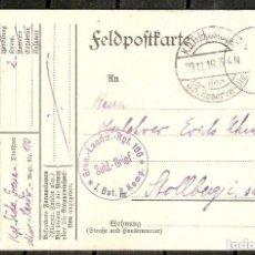 Sellos: ALEMANIA IMPERIO. 1916. FELDPOSTKARTE. 33 DIVISIÓN DE LA RESERVA. I BATALLON. 2 COMPAÑIA... Lote 212592992