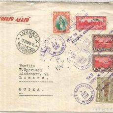 Francobolli: GUATEMALA SAN SEBASTIAN CC 1938 A LUZERN SUIZA LAGO DE ATITLAN. Lote 213454640