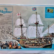 Sellos: 1620 THE MAYFLOWER HISTORIA HOJA GRANDE CON SELLO STAMP SIN MONTAR - 38 X 31.CM. Lote 224674412
