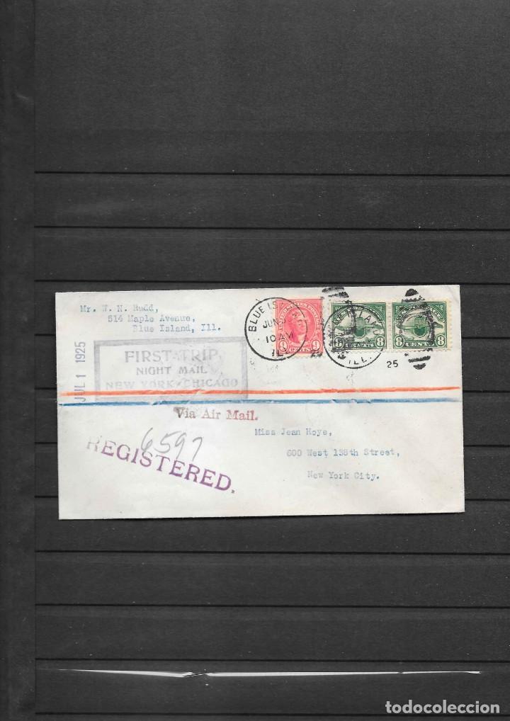 PRIMER VUELO DE NOCHE CHICAGO A NEW YORK EN 1925 (Sellos - Historia Postal - Sellos otros paises)