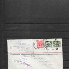 Sellos: PRIMER VUELO DE NOCHE CHICAGO A NEW YORK EN 1925. Lote 215747385