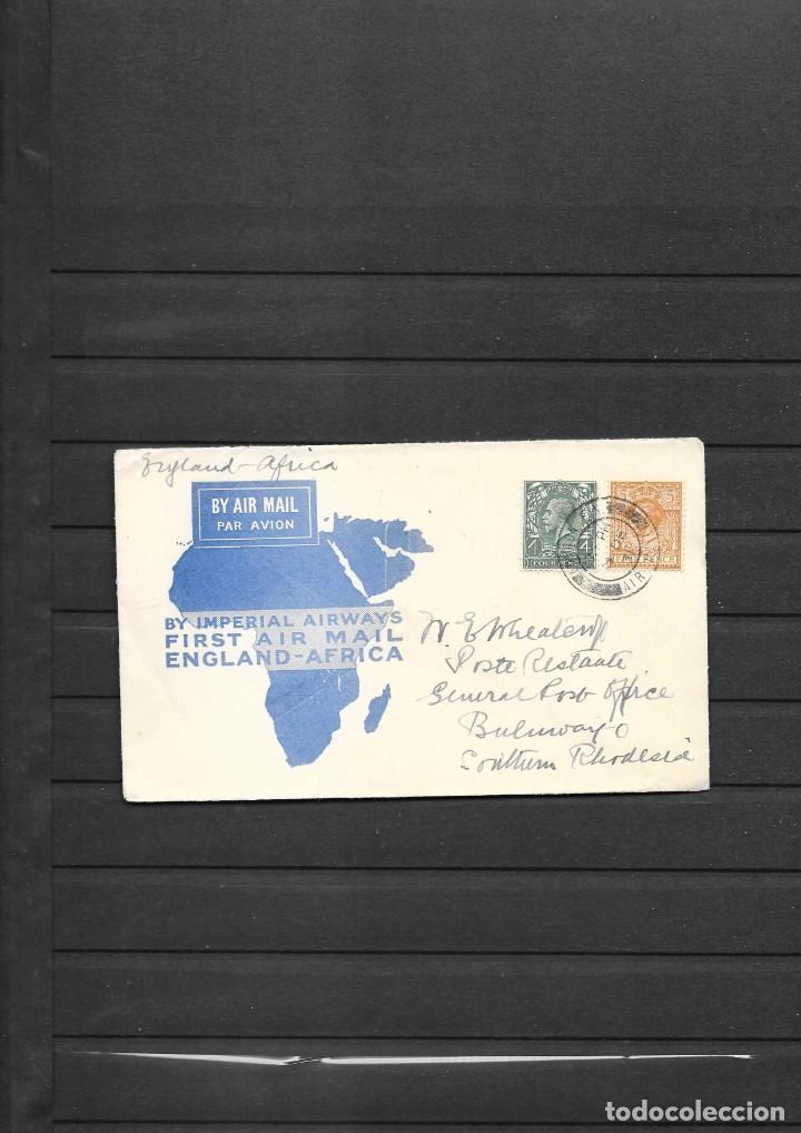 PRIMER VUELO DE LONDRES A BULAWAVO RHODESIA DEL SUR EN 1931 (Sellos - Historia Postal - Sellos otros paises)