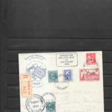 Sellos: FRANCIA SOBRE ENTERO POSTAL MULHOUSE 1934 CERTIFICADO. Lote 217903636