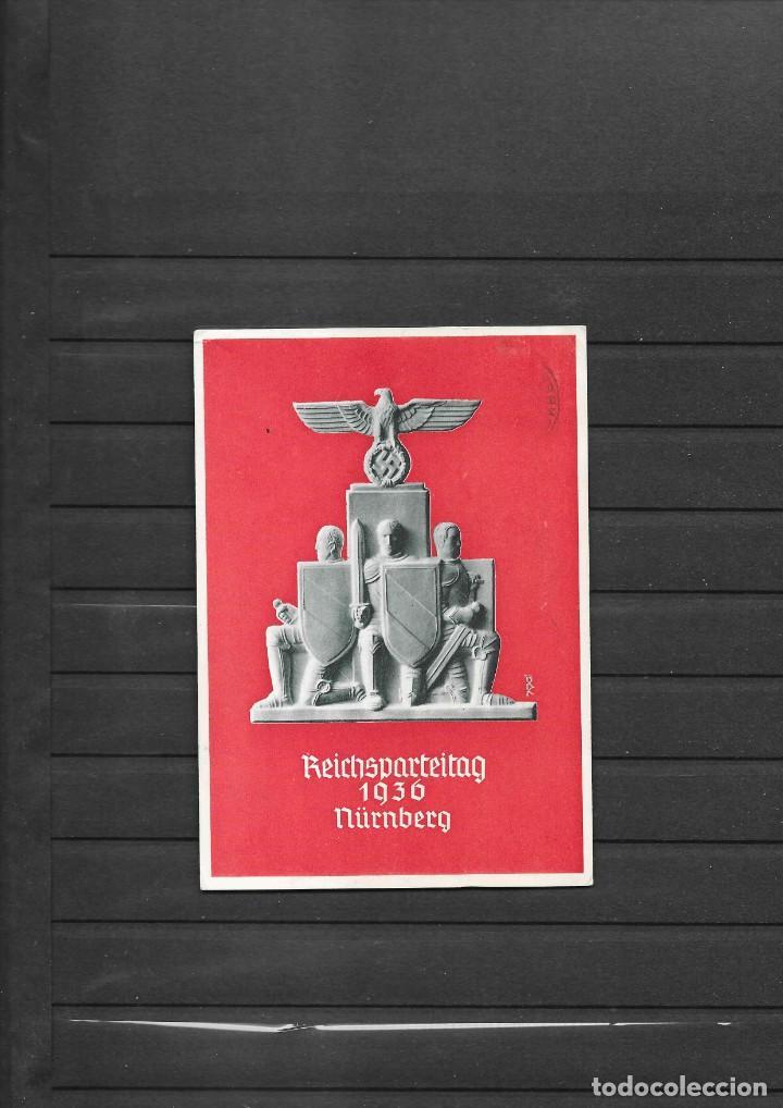 ALEMANIA III REICH TARJETA POSTAL CONMEMORATIVA 1936 (Sellos - Historia Postal - Sellos otros paises)