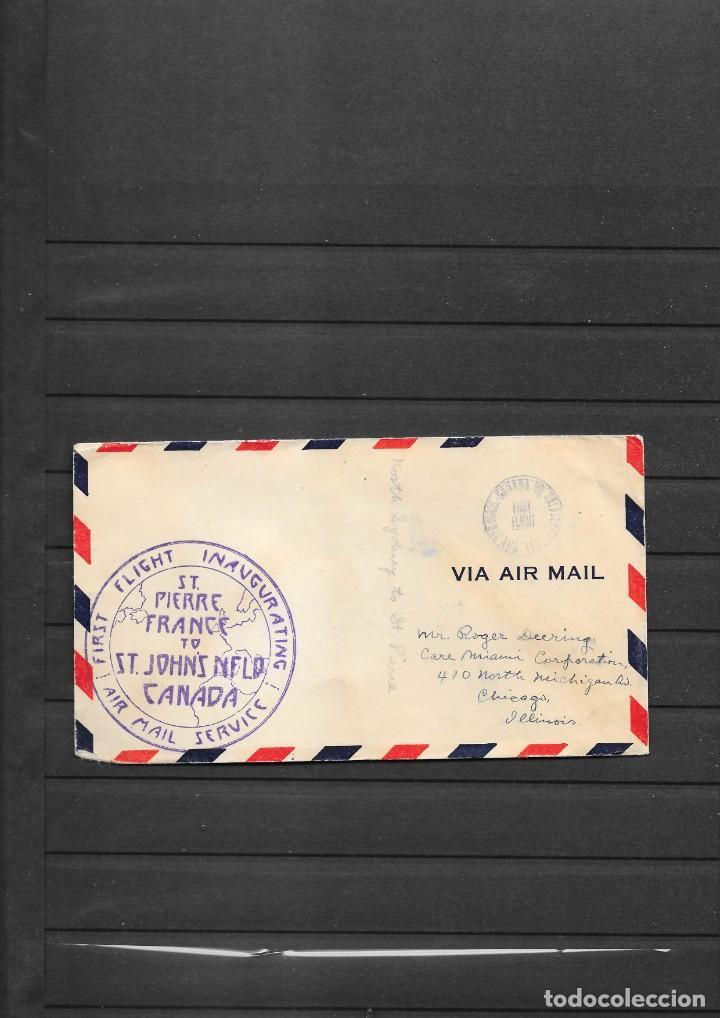 CANADA SOBRE PRIMER VUELO CON SELLO LOCAL AEREO (Sellos - Historia Postal - Sellos otros paises)