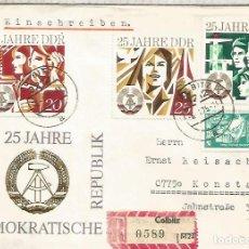 Sellos: ALEMANIA DDR CC COLBITZ CERTIFICADA 25 AÑOS DDR. Lote 218727512