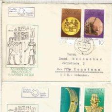 Sellos: ALEMANIA DDR CC COLBITZ ARTE EGIPCIO EGYPTIAN ART JOYERIA JEWLERY ESCULTURA. Lote 218729400