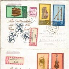 Sellos: ALEMANIA DDR CC COLBITZ CERTFICADA MUSICA MUSIC INSTRUMENTOS MUSICALES. Lote 218730957