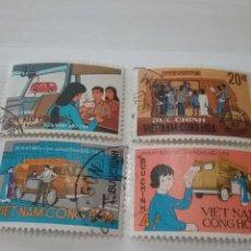 Sellos: SELLOS VIETNAM SUR MTDOS/USADOS/1969/OFICINA/POSTAL/AMBULANTE/COCHE/FURGONETA/CARTERO/VEHICULO/TRANS. Lote 219179958